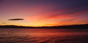 panorama of a sunset