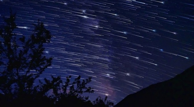 Star Trails, falling stars style