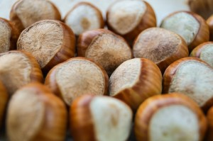 brown hazelnuts photography