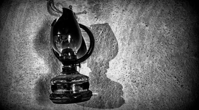 An old kerosene lamp