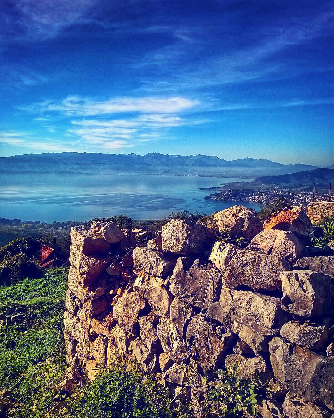 Just get a little higher and everything looks better than it already is. #ohrid #ohridlake #horizon #photographyel