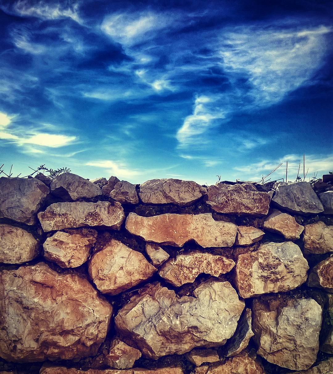Sky and stone. What's on the other side? #sky #walls #stonewall #photographyel