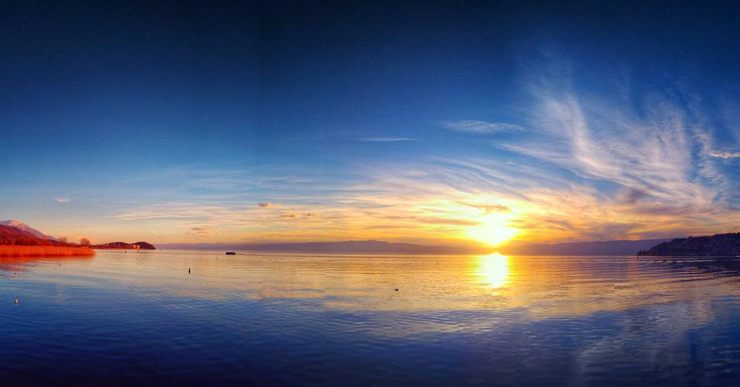 Today's pano #sunset. #охрид #ohrid #macedonia #lakeohrid